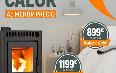 Estufas de Pellet Kalor+ 6kW y 9,5 kW